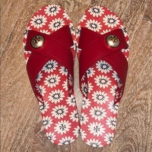 Tory Burch Nantucket red melody sandals size 10